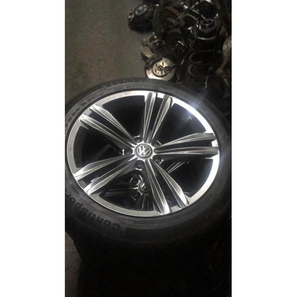Jogo de roda com pneu Tiguan 2019 R-line
